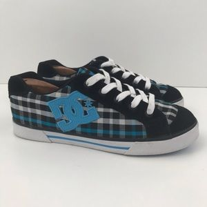 DC Shoes Womens Chelsea Plaid Skateboard Shoes